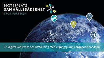 Mötesplats Samhällssäkerhet genomförs digitalt 2021