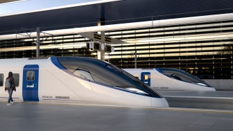 Image of the proposed Hitachi Bombardier High Speed train