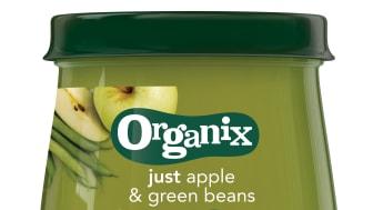 Organix just apple & green beans