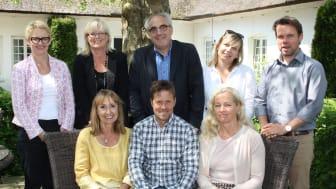 Tourism in Skånes styrelse: (från vänster, bakre raden) Charlotte Lorentz Hjort, Eva Berglund, Peter Weinhandl, Emma Håkansson, Christian Wilander (från vänster, främre raden) Anki Dahlin, Johan Delfalk, Ann Nyström (Roger Larsson ej med på bild)