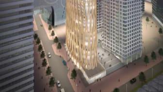 Banbrytande höghusarkitekt till Trä & Teknik. Londonbaserade Kevin Flanagan berättar om sina visioner om att bygga höghus i trä.