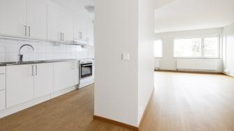 Tidigare kontorslokaler har blivit till 24 ljusa och moderna lägenheter.