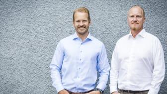 Från vänster: Henrik Johansson och Joakim Percival