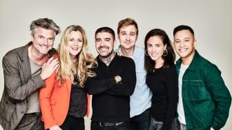 Jakob Stadell, Gunilla Backman, Méndez, Bill Sundberg, Tilde Fröling och Nils Axelsson medverkar i Djungelboken - The Musical. Fotograf: Linus Hallsénius