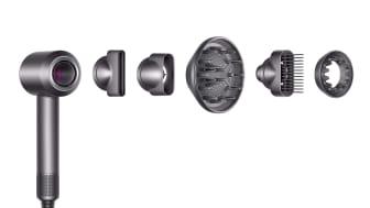 Dyson Supersonic mit allen Styling-Aufsätzen