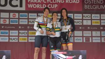 Anna Beck, silvermedaljör på World Cup i Ostend, 17 maj 2019