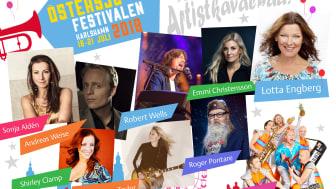 Stjärnspäckat på torgscenen under Östersjöfestivalen