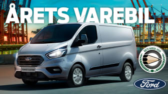 Transit Custom er Årets Varebil i Danmark 2020