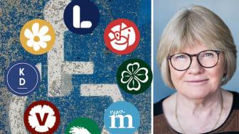 Elisabeth Wallenius är ordförande för Funktionsrätt Sverige. Foto: Montage, Unsplash, Linnea Bengtsson