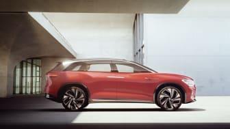 ID. ROOMZZ-konceptbilen er en næsten 5 meter lang SUV med plads til 7 personer.