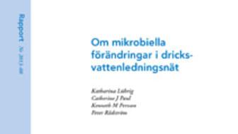 SVU-rapport 2013-08: Om mikrobiella förändringar i dricksvattenledningsnät (Dricksvatten)