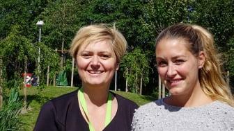 Emila Bisanovic, kundansvarig, och Niki Radjenovic, bostadschef, Helsingborgshem.