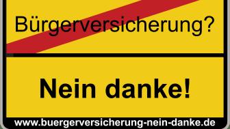 Das Logo der Betriebsratskampagne gegen Einführung einer Bürgerversicherung