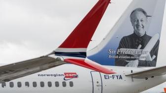 Sir Freddie Laker returns to the skies on Norwegian's first Boeing 737 MAX