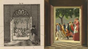 C. W. Eckersberg: View through a door to running figures. 1845. Estimate: DKK 2-2.5 mill. (€ 270,000-335,000)
