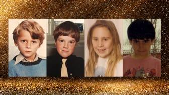 Från krigsbarn till livslust: Carl-Martin Vikingsson, Abbe Hassan, Jennifer Vidmo, Ivica Zubak (barndomsbilder)