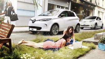 Renault ZOE och Nissan LEAF för framtidens smarta städer