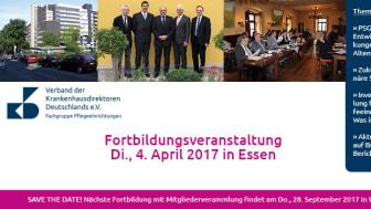 Erinnerung: Fortbildung am 4. April 2017