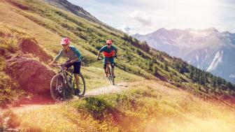 Mountainbiker bei Leukerbad, Wallis (c) Valais Wallis Promotion - Pascal Gertschen