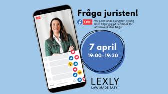 Live på Facebook, ställ dina familjejuridiska frågor till Linda Ljunggren Syding från Lexly