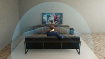 Neue Dolby Atmos Soundbar mit virtuellem dreidimensionalem Surround-Sound
