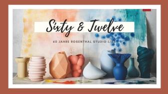 60 ausgewählte Vasen in 12 verschiedenen Farben reflektieren eine Zeitreise durch die Rosenthal Designgeschichte
