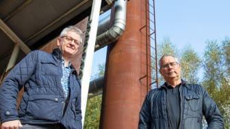 Flemming Rasmussen, regionchef Solör Bioenergi Syd och Sven Persson, VD för Bussme Energy