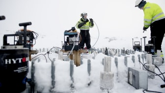 Justering av fundament Roan vindpark desember 2017