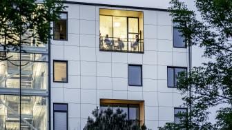 Fastigheten HSB Living Lab får sin energi bland annat genom Energy Saves värmepumpar