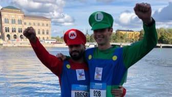 2018 sprang Erik och en kompis utklädda till Super Mario och Luigi till förmån för organisationen Min Stora Dag.