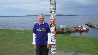 Sandbach septuagenarian puts his best foot forward for the Stroke Association
