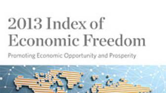 Index of Economic Freedom 2013: Sverige i topp-20 för första gången