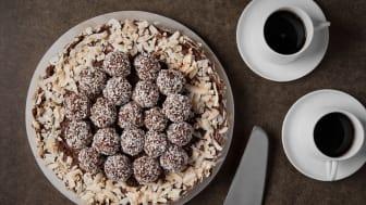 Chokladbollstårta på överblivet kaffe