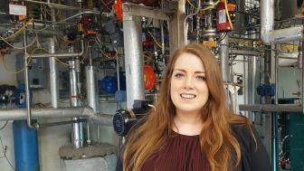 Jessica Gard Timmerfors, doktorand vid Kemiska institutionen inom ramen för Företagsforskarskolan vid Umeå universitet.