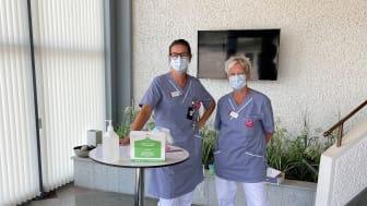 Enhetschef Sandra Warmark och vårdcentralschef Anna-Lisa Östergaard.