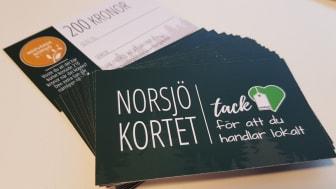 Norsjökortet finns att köpa på Norsjö Visitor Center