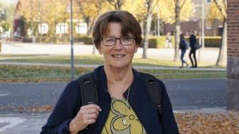 Här på högskolan är vi förbaskat duktiga på utbildning. Den forskning vi gör, den gör vi dessutom väldigt bra, menar Kerstin Blomqvist, professor i omvårdnad.