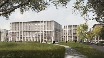Der Entwurf von David Chipperfield Architects konnte das Preisgericht städtebaulich wie hochbaulich überzeugen. Grafik: Ponnie Images