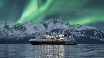 Northern Lights in Norway with Hurtigruten. Photo: Hege Abrahamsen