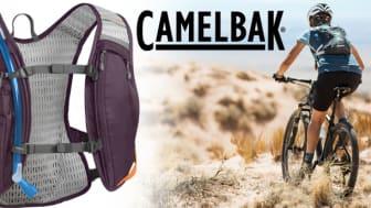 Nestetankkaus pyöräilyn aikana sujuu helposti, kun selässä on kevyt CamelBak® Chase Bike Vest -juomareppu.