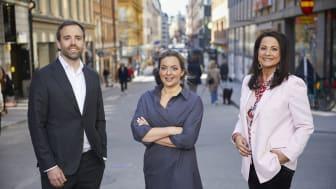Fredrik Blomqvist, Pauline Grindvall och Bodil Ericsson Torp. Fotograf: Fredrik Persson.