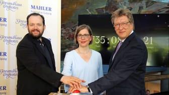 Start des Vorverkaufs für das Mahler-Festival 2021: Andris Nelsons, Dr. Skadi Jennicke und Prof. Andreas Schulz - Foto: Andreas Schmidt
