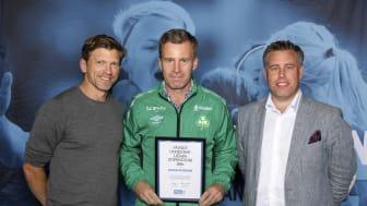 Staffan Petersson, Bergnäsets AIK. Här tillsammans med Jepser Blomqvist och Mikael Tykesson.