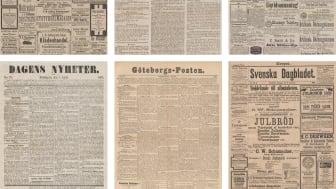 Släktforska och följ 1800-talets nyhetsrapportering – KB:s söktjänst för dagstidningar växer!