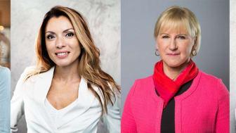 Petra Tötterman Andorff, Hanna Andersson, Alexandra Pascalidou, Margot Wallström, Linnéa Claeson