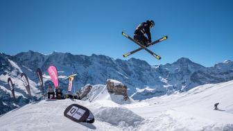 Freeskier am letztjährigen Schilthorn Open im Skyline Snowpark
