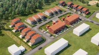 Brf Trolleberget blir 24 bostäder i radhus och kedjehus.