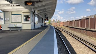 Transformed: Balham platform. Picture by Network Rail. More photos can be downloaded below