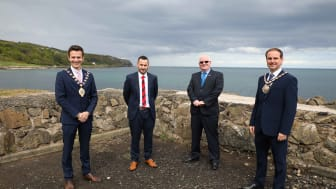 Council's Union Connectivity Group: Mayor Peter Johnston, Councillor Timothy Gaston, Ald Billy Ashe MBE and Cllr Andrew Wilson
