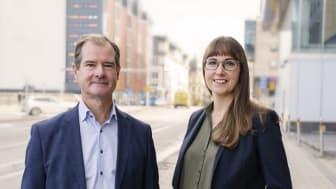 Mårten Lilja, vice vd Riksbyggen och chef för affärsområde Bostad och Johanna Ode, bostadspolitisk expert.